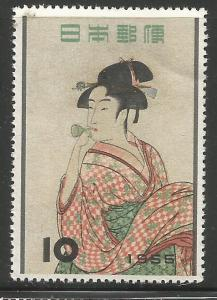 JAPAN  616   MNH,  A GIRL BLOWING GLASS TOY