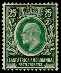 EAST AFRICA and UGANDA SG40, 25c grey-green & black, M MINT. Cat £22.