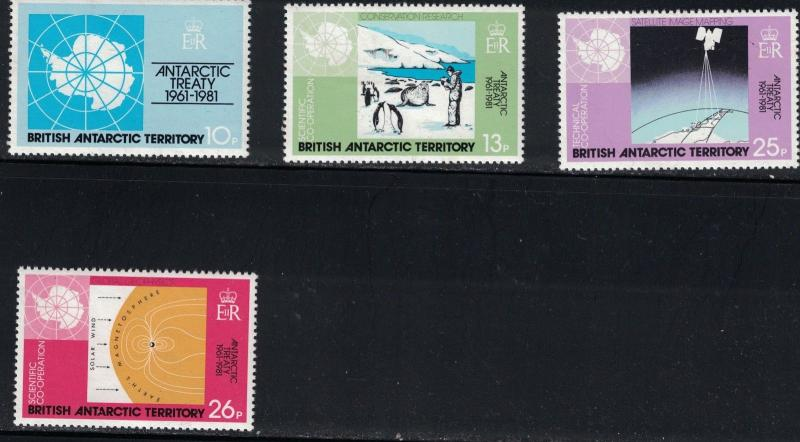 British Antarctica SC82-85 20th AnniversaryOfAntarctic Treaty MNH 1981