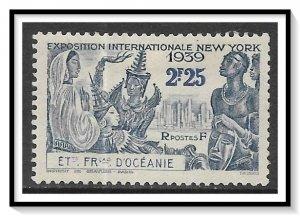 French Polynesia #125 NY World's Fair MHR