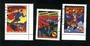 Canada #1579-80, 1582   used VF 1995  PD