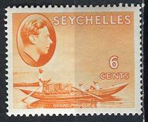Seychelles: 1938 Sc. #128, *+/MLH Single Stamp