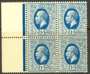 GREAT BRITAIN 1912 KGV STAMP EXHIBITION Essay THE IDEAL STAMP 1d Blue BLK4 MNH