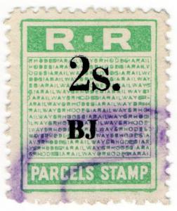 (I.B) Rhodesia Railways : Parcels Stamp 2/- (Banket Junction)