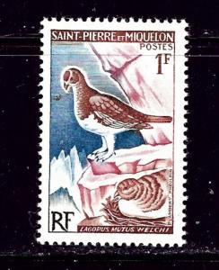 St Pierre 363 MH 1963 Bird