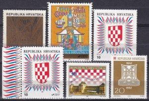 Croatia #100, 103-4, 104a, 125-6 MNH  CV $8.00 (Z5740)