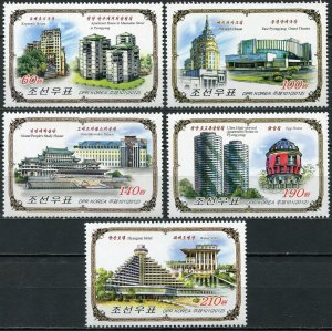Korea 2012. Buildings in Moscow and Pyongyang (MNH OG) Set of 5 stamps