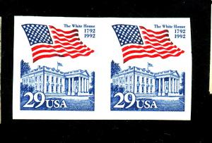 2609A MINT Imperf Pair VF NH Cat $15