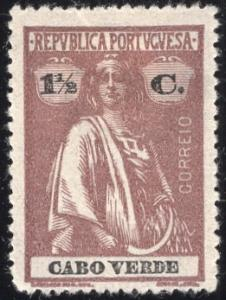 Cape Verde 166 - Mint-H - 1.5c Ceres (Perf 15x14) (1916)