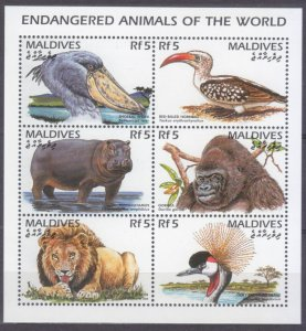 1996 Maldive Islands 2703-2708KL Fauna 7,50 €