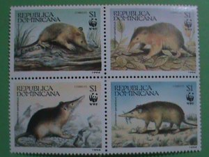 DOMINICA STAMP 1994-SC#1158-WORLD WILD LIFE FUND BLOCK OF 4  MINT NOT HING SET: