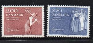 Denmark Sc 723-4 1982 Europa stamp set mint NH