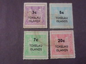 TOKELAU # 12-15-USED---COMPLETE SET----1967