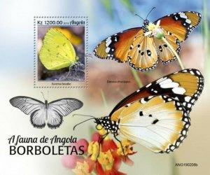 Angola - 2019 Butterflies on Stamps - Stamp Souvenir Sheet - ANG190208b