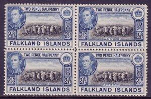 Falkland Islands - Scott #87 - Block/4 - MNH - See description - SCV $6.00