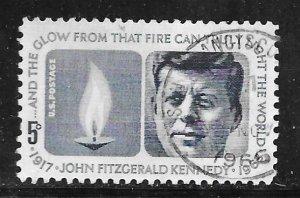 USA 1246: 5c John F. Kennedy and Eternal Flame, used, VF