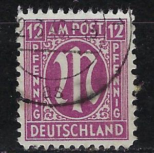 Germany AM Post Scott # 3N8, used