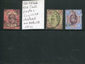 Great Britain 4,9 and 10p, Latter is SG254b Used VF - LSP