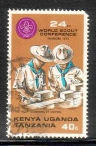 Scouts Laying Bricks, Kenya, Uganda & Tanzania SC#263 used