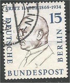 BERLIN, 1958, used 15pf Portraits Scott 9N151