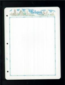 White Ace Assorted Topical Historical Stamp Album Blank Pages - Pack of 18
