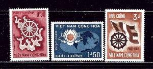South Vietnam 255-57 MLH 1965 Anniversary of Buddhas Birth