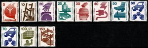 GERMANY BERLIN 1971-74 ACCIDENT PREVENTION SET MINT (NH) SG B396-406 P.14 SUPERB