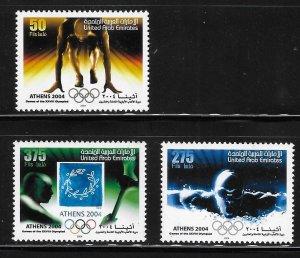 United Arab Emirates UAE 2004 Olympics Athens Sc 770, 772-773 MNH A2042