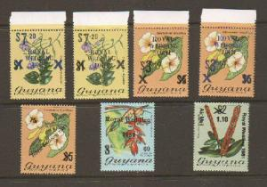 Guyana #331-5 and a's Mint