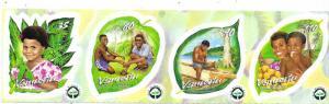 Vanuatu #808 Strip of 4  (MNH) CV $6.75