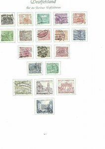 GERMANY BERLIN ISSUES ON FOUR PAGES CAT £250+   .REF 188