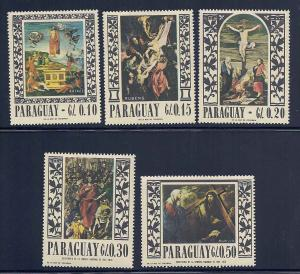Paraguay 1004a-1004e Mint VF LH to HR