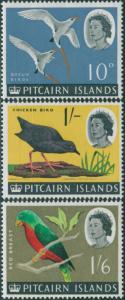 Pitcairn Islands 1964 SG43-45 Birds MNH