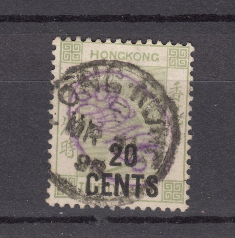 J28259 1885-91 hong kong used #52 queen ovpt  $140.00 scv