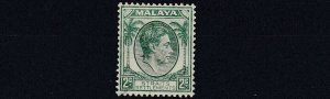 MALAYA  STRAITS SETTLEMENTS  1938 - 41  S G 279  2C  GREEN  MH