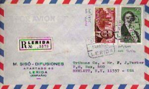 Spain, Airmail, Registered