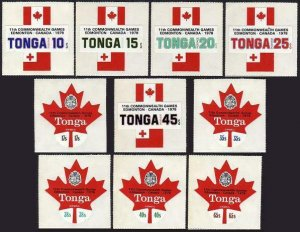Tonga 419-23,C239-243,CO129-131,MNH.Mi 656-465,D165-167. Commonwealth Games.1978