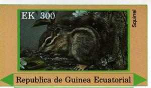Equatorial Guinea 1978 Squirrel s/s Imperforated mnh.vf
