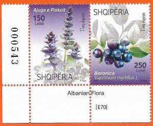 Albania 2017 [E70] , Albanian Flora. Gim.Nr. 3699-3700,MNH