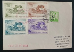 1971 England First Day cover SSS Emergency Mail Service Mixed Franking