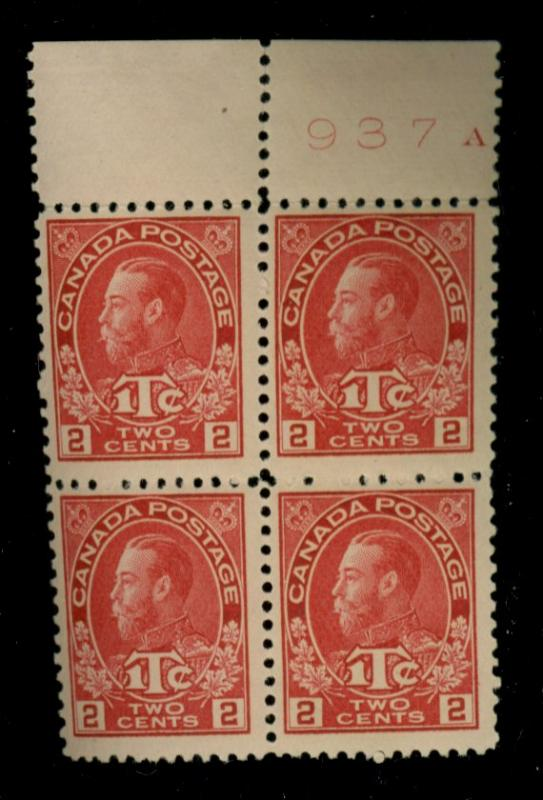 Canada #MR3B MINT Block F-VF OG NH Cat$440