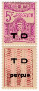 (I.B) France Colonial Postal : Tunis Postage Due 5Fr