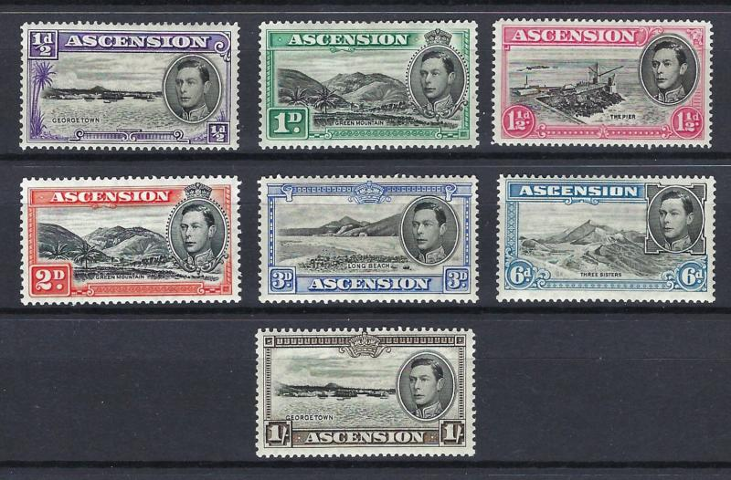 Ascension   KGVI  1938  Part set   mounted mint   (H-A5)