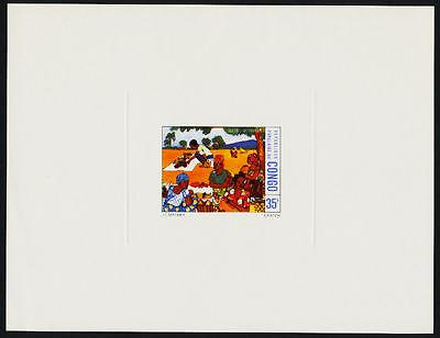 Congo PR 366-7 Deluxe sheets MNH Art, Fruit, Market