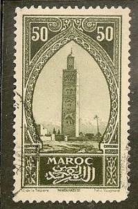 French Morocco   Scott   105    Tower      Used