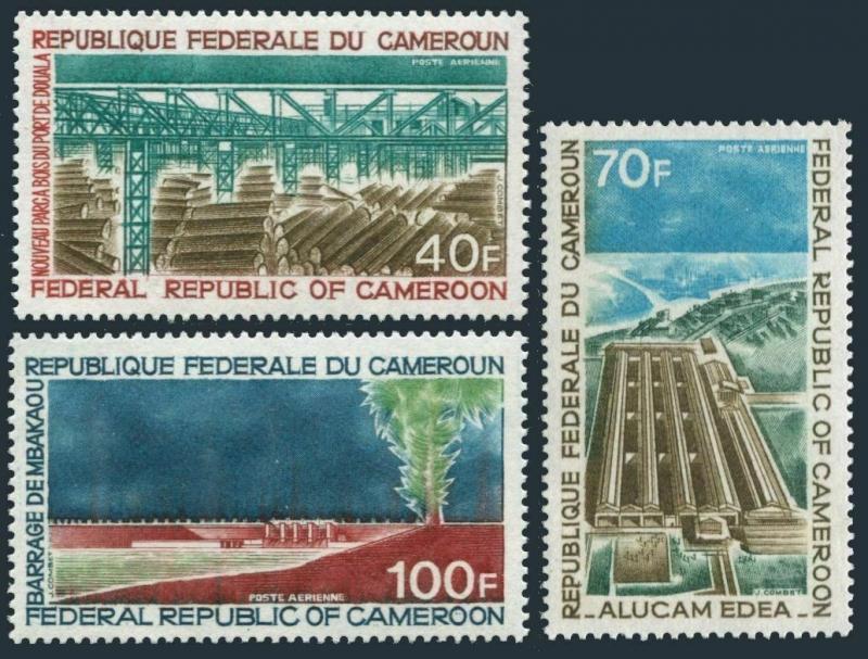 Cameroun C161-C163,MNH.Michel 642-644. Industrialization 1971.ALUCAM plant,Dam.