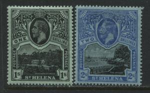 St. Helena KGV 1912 1/ and 2/ mint o.g.