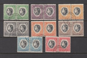 SOUTH WEST AFRICA ( NAMIBIA) SC# 125-132 PAIR AS ISSUED - USED