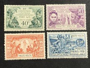 Upper Volta #66-69 MNH VF CV$32.00 Colonial Expo