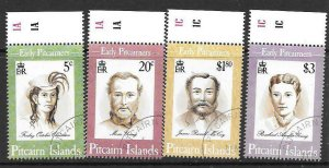 PITCAIRN ISLANDS SG446/9 1994 EARLY PITCAIRNERS FINE USED